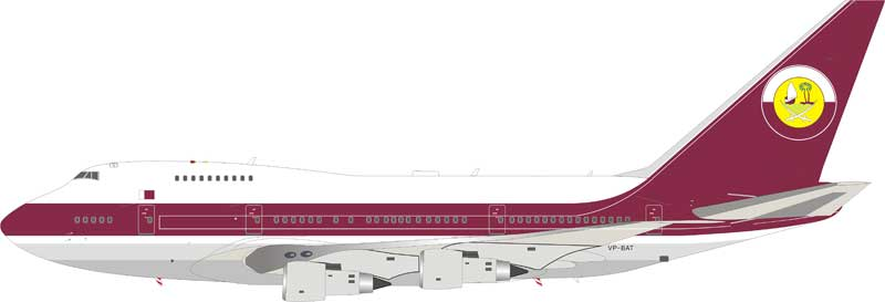 Qatar Amiri Flight Boeing 747SP VP-BAT (1:200) - Preorder item, order now for future delivery , InFlight 200 Scale Diecast Airliners, Item Number IF747SP0518