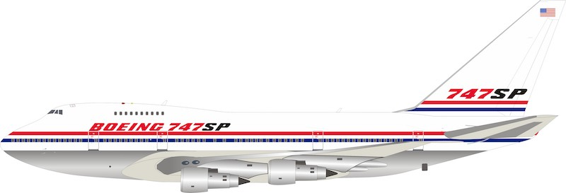 Boeing 747SP N747SP Polished With Stand (1:200) by InFlight 200 Scale Diecast Airliners