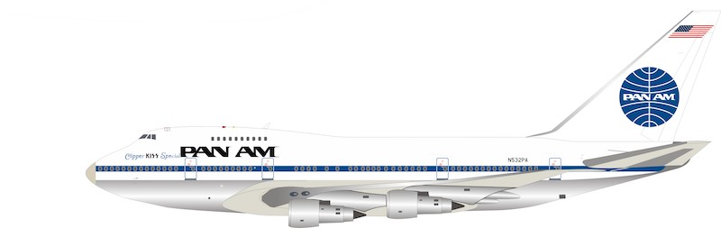 Pan Am Boeing 747SP-21 N532PA Polished CLIPPER KISS SPECIAL (1:200)