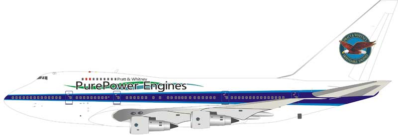 "Pratt & Whitney Canada Boeing 747SP C-FPAW ""PurePower Engines"" (1:200) - Preorder item, Order now for future delivery"