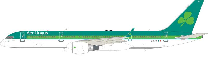 Aer Lingus Boeing 757-2Q8 EI-LBT With Stand (1:200)