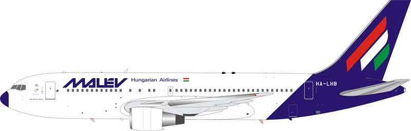 Malev Hungarian Airlines Boeing 767-200 HA-LHB With Stand (1:200)