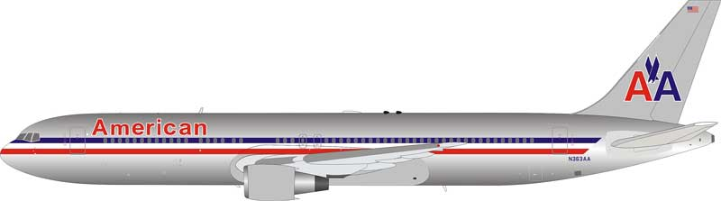 American Airlines Boeing 767-300 N363AA polished (1:200)