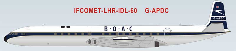 BOAC DeHavilland DH-106 Comet 4 G-APDC 60th Anniversary Model First Transatlantic Flights (1:200) - Preorder item, order now for future delivery, InFlight 200 Scale Diecast Airliners Item Number IFCOMET-LHR-IDL-60-P