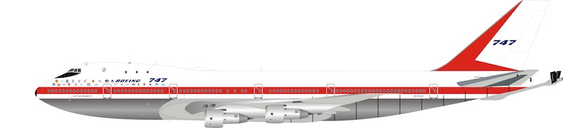 Boeing House KC-747 N1352B polished (1:200) , InFlight 200 Scale Diecast Airliners, Item Number IFKC7470119P