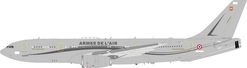 French Air Force Airbus A330-202 (MRTT) MRTT041 (1:200) , InFlight 200 Scale Diecast Airliners, Item Number IFMRTTFAF001