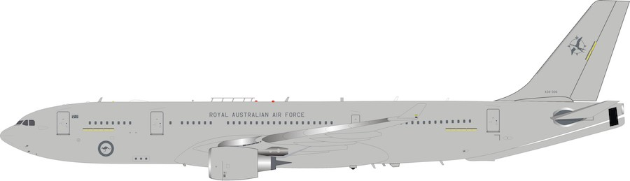 Australia - Air Force Airbus KC-30A (A330-203MRTT) A39-006 With Stand (1:200) by InFlight 200 Scale Diecast Airliners SKU IFMRTTRAAF0819