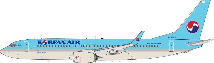 Korean Air Boeing 737- 8LH HL8246 (1:200)