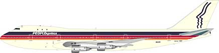 People Express Boeing 747-100 N603PE (1:200), JFox Model Airliners Item Number JF-747-1-002