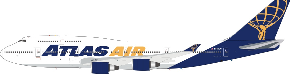 Atlas Air Boeing 747-400 N464MC (1:200) - Preorder item, Order now for future delivery
