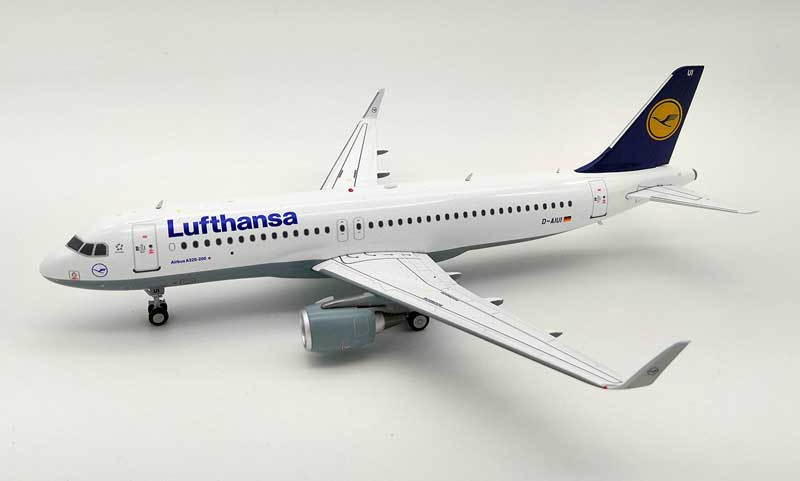 Lufthansa Airbus A320-214 D-AIUI (1:200) -, InFlight 200 Scale Diecast Airliners, Item Number JF-A320-013