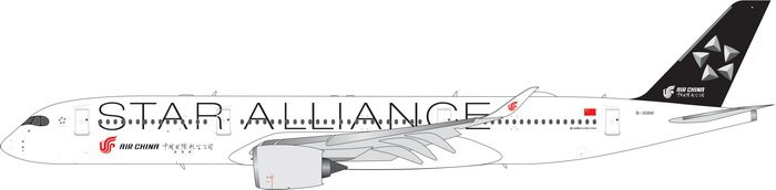 "Air China A350-900 ""Star Alliance"" B-308M (1:400) by Phoenix 1:400 Scale Diecast Aircraft Item Number: PH4CCA1909"