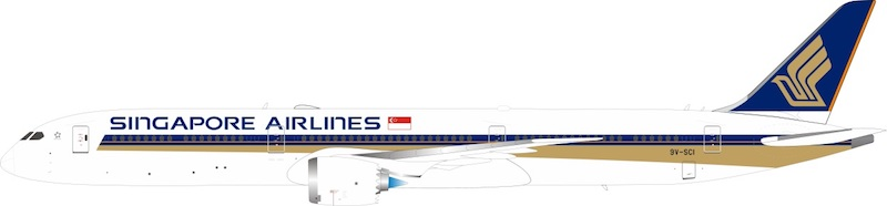 Singapore Airlines Boeing 787-10 Dreamliner 9V-SCI (1:200)
