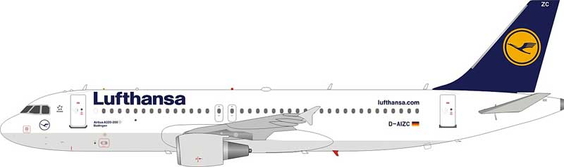 Lufthansa Airbus A320-214 D-AIZC (1:200) - Preorder item, Order now for future delivery