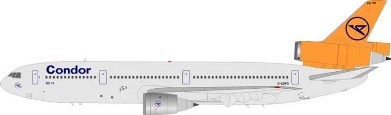 Condor DC-10-30 D-ADPO (1:200), WB Models by InFlight 200 Item Number WB-DC10-3-007