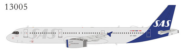 Scandinavian Airlines SAS A321-200 OY-KBH The first SAS Airbus A321 in the new livery (1:400)