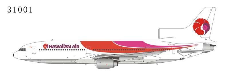 Hawaiian Air L-1011-1 N765BE (1:400) by NG Models Item Number: 31001