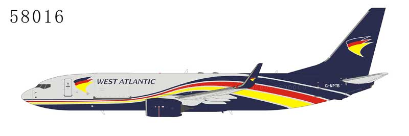 West Atlantic Cargo 737-800BCF with Winglets G-NPTB (1:400) by NG Models Item Number: 58016