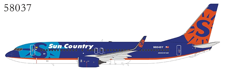 "Sun Country Airlines 737-800 Winglets N804SY ""Delivery Colors"" (1:400)"