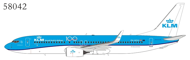 KLM - Royal Dutch Airlines 737-800/w PH-BCH n/c; 100th Anniversary (1:400)