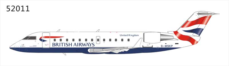 "British Airways ""Maersk Air"" CRJ-200LR (1:200), NG Models Item Number NG52011"