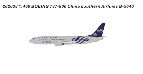 China Southern Airlines B737-800 B-5640 SkyTeam (1:400)