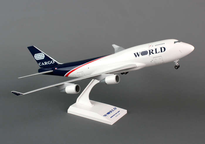 World Airways 747-400BCF (1:200) With Gear, SkyMarks Airliners Models Item Number SKR732
