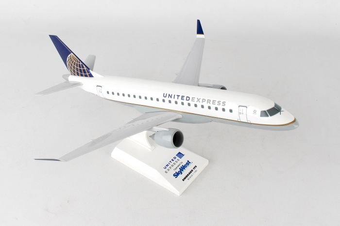 United Airlines Post Continental Merger ERJ-175 (1:100) by SkyMarks Airliners Models item number: SKR766