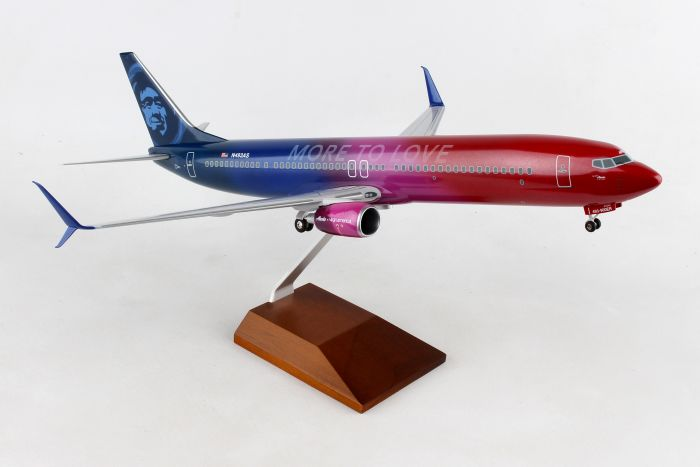 "Alaska 737-900 ""More to Love"" (1:100) by SkyMarks Airliners Models item number: SKR8269"