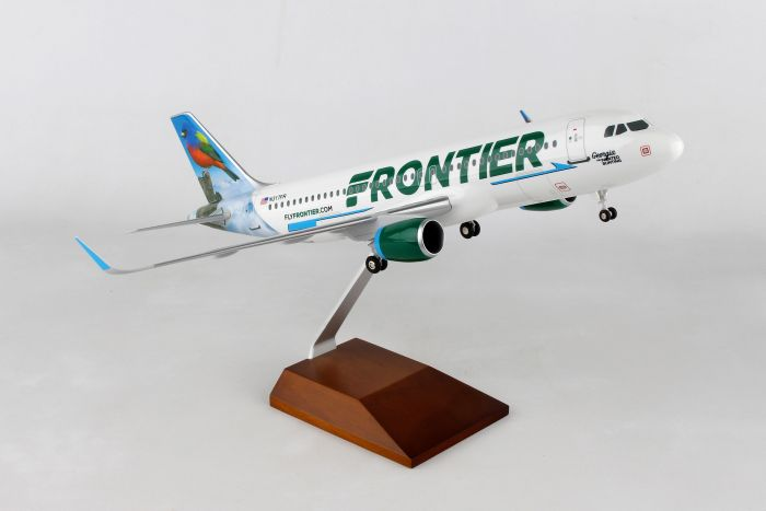 "Frontier A320neo ""Georgia, The Painted Bunting"" (1:100) by Skymarks Supreme Desktop Aircraft Models item number: SKR8334"