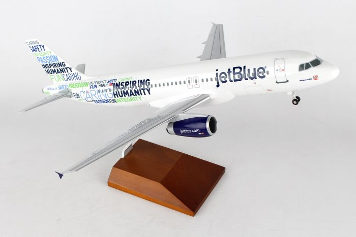 "Jetblue A320 ""Bluemanity"" (1:100) by Skymarks Supreme Desktop Aircraft Models item number: SKR8343"