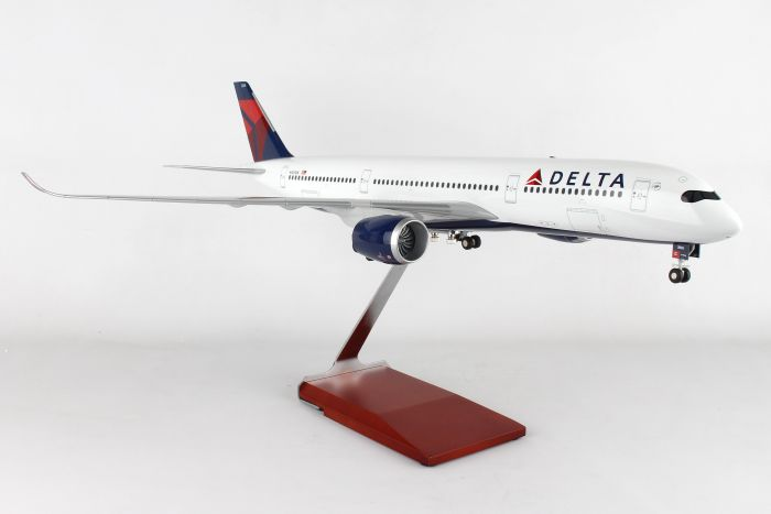 Delta A350 (1:100) with Stand and Gear by Skymarks Supreme Desktop Aircraft Models item number: SKR8803