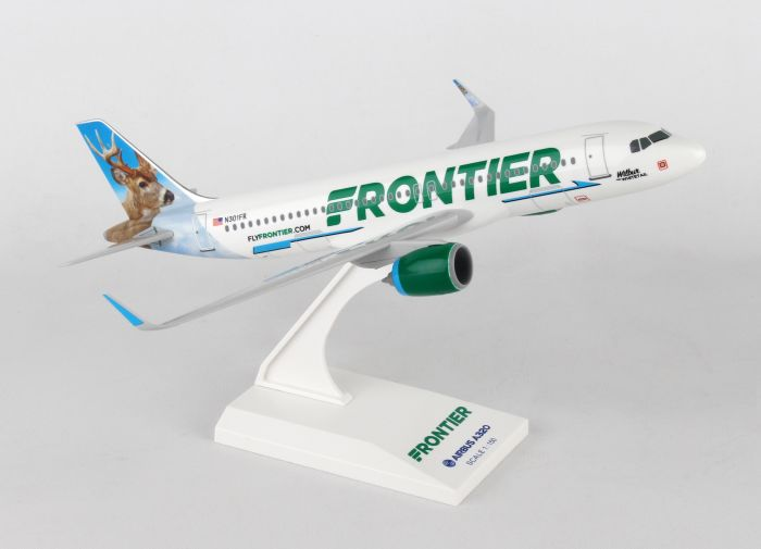 "Frontier A320NEO ""Wilbur Whitetail"" (1:150) by SkyMarks Airliners Models item number: SKR907"
