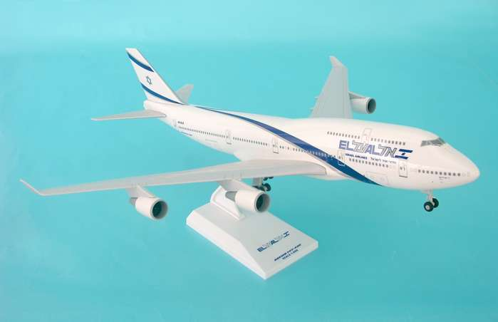 El Al 747-400 (1:200) W/Gear, SkyMarks Airliners Models Item Number SKR488