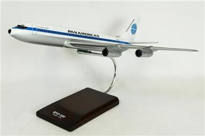 B707-320 Pan Am (1:100), TMC Pacific Desktop Airplane Models Item Number KB707PAT