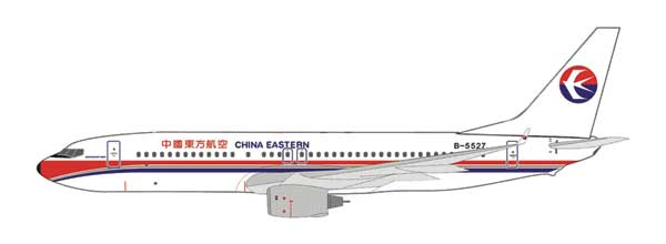 China Eastern 737-800 B-5527 (1:400), InFlight 400 Scale Diecast Airline models Item Number IF4738009