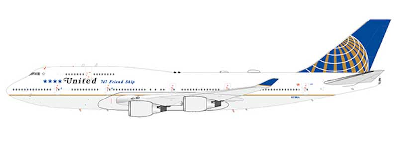 "United Airlines B747-400  ""Final Flight "" N118UA (1:200) - , JC Wings Diecast Airliners, Item Number JC2UAL203"