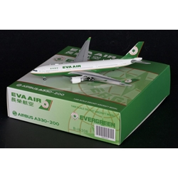 EVA Air A330-200 B-16307 with Antenna (1:400) by JC Wings Diecast Airliners Item: JC4EVA907
