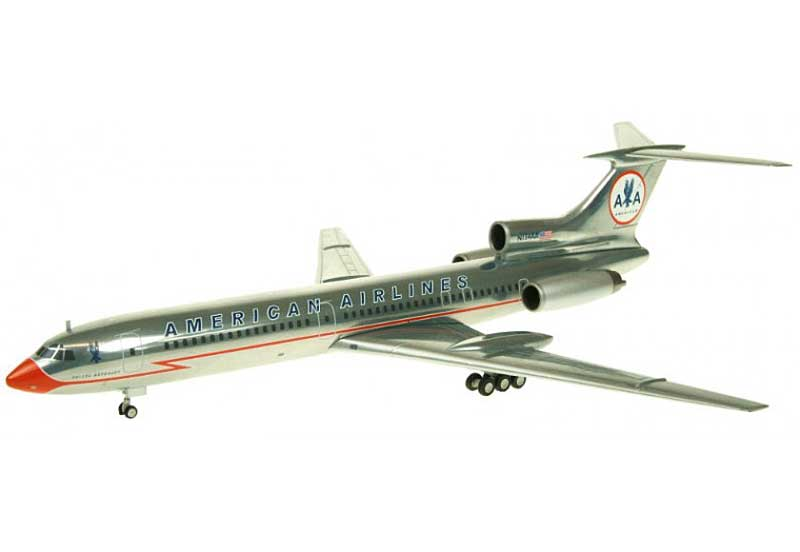 "American TU-154M N154AA ""Lighting Bolt Livery"" (1:200) - Special Clearance Pricing by JC Wings Diecast Airliners Item: XX2736"