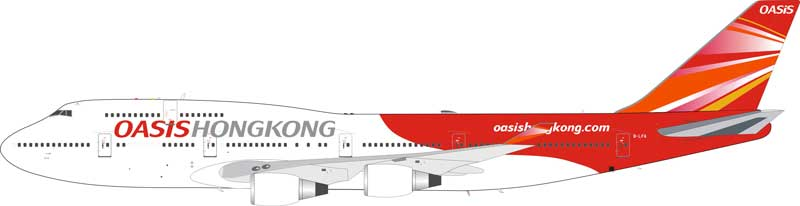 Oasis Hong Kong Airlines B747-412  - PW Engine Version  B-LFA (1:200), JFox Model Airliners Item Number JF-747-4-023