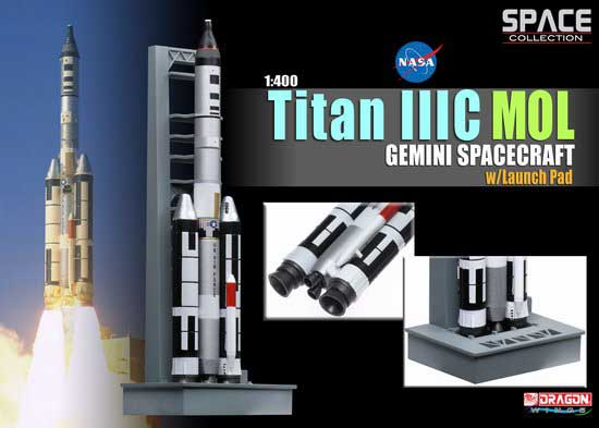 Titan IIIC MOL Gemini Spacecraft w/Launch Pad (1:400), DragonWings Space Series Item Number DRW56232