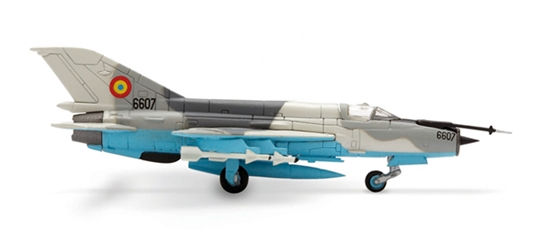 Romanian Air Force MIG-21 (1:200) Lancer C, Herpa 1:200 Scale Diecast Airliners Item Number HE552431