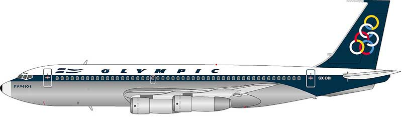 Olympic 720-051B  SX-DBI (1:200), InFlight 200 Scale Diecast Airliners Item Number IF27200415P