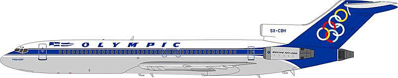 Olympic 727-230/Adv SX-CBH (1:200), InFlight 200 Scale Diecast Airliners Item Number IF7220315