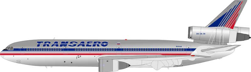 Transaero Airlines DC-10-30 N141AA (1:200), InFlight 200 Scale Diecast Airliners Item Number IFDC101213AP