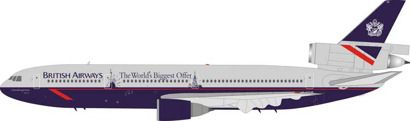 "British Airways DC-10-30 ""The World Biggest Offer"" G-NIUK (1:200), JFox Model Airliners Item Number JF-DC10-3-002"