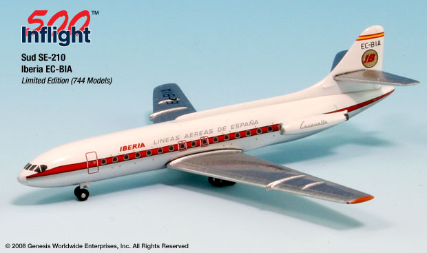 Iberia Caravelle (1:500), InFlight 500 Scale Diecast Airline models Item Number IF5210004
