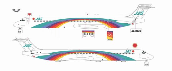 "JAS MD-90 ""Rainbow Cruising Scheme #7"" ~ JA8070 (1:200)"