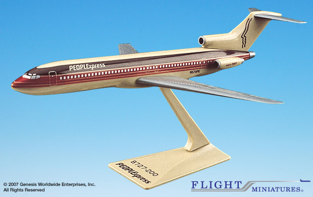 People Express at Airline Museum - Diecast Models, Plastic