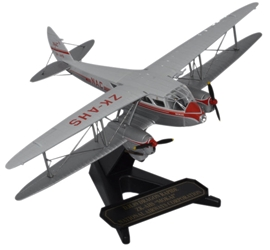 "de Havilland DH.89 Dragon Rapide, ""Mokai,"" New Zealand National Airways Corporation, ZK-AHS, Oxford Diecast 1:72 Scale Models Item Number 72DR011"